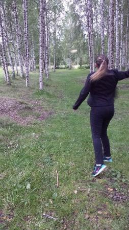 Discgolf Terminalen: Playing