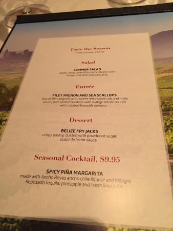 Englewood, CO: Seasonal Menu