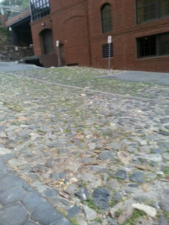 Factors Walk : Cobblestones outside Bohemian Hotel