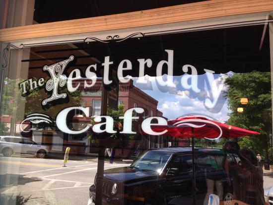 The Yesterday Cafe: Old Store Front Window