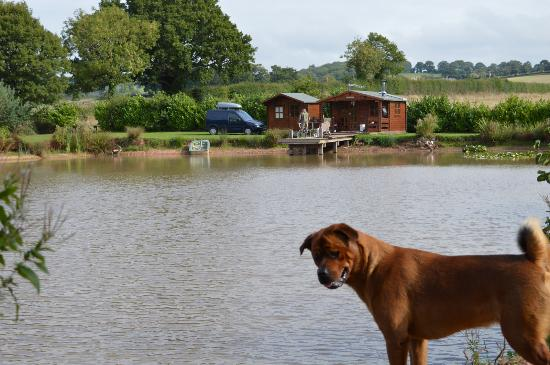Herefordshire, UK: Log cabin country side cabin private fishing