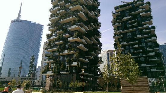 Bosco verticale nei grattacieli di Milano