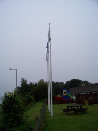 Alness, UK: Gleaner Flags at Skiach and playarea