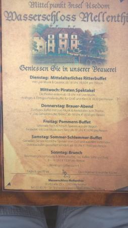 Mellenthin, Niemcy: Speisekarte