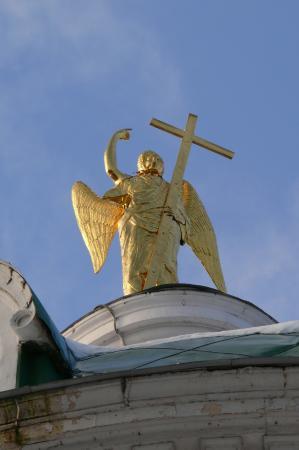 Grebnevo, Russia: Ангел на куполе