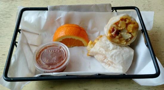 Madison, NH: Potato Bacon Burrito