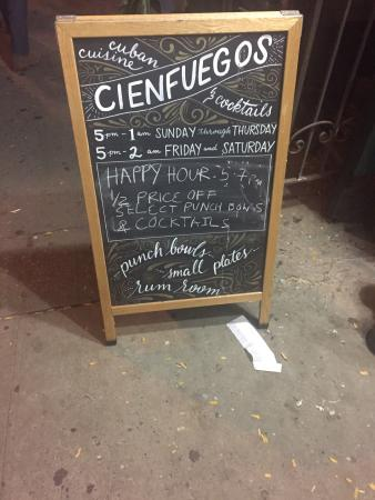 Photo of Cuban Restaurant Cienfuegos at 95 Ave A, New York, NY 10009, United States