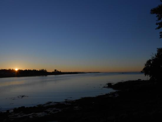 Prospect Harbor, ME: Sunrise over the harbor