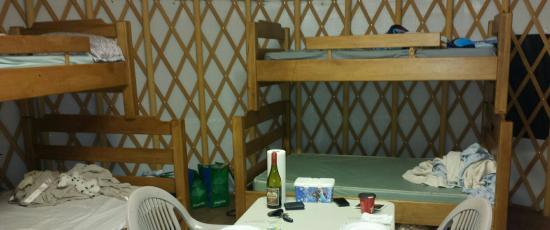 Bronte Creek Provincial Park: Inside the yurt