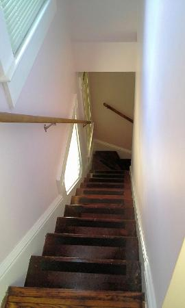 Manheim Manor Victorian Bed and Breakfast: Ribbons and Romance stairs leading to kitchen