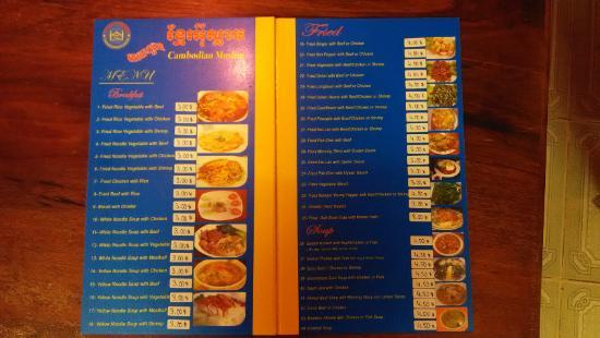 menu salah satu restoran halal dekat Jasmine Garden Villa