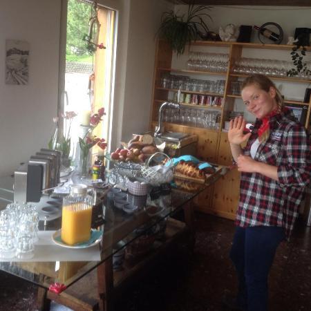 Ftan, Szwajcaria: ein Teil des sehr leckeren Frühstücksbuffet