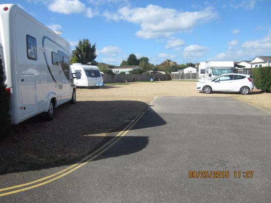 Warsash, UK: Dibles Park motorhome/caravan area