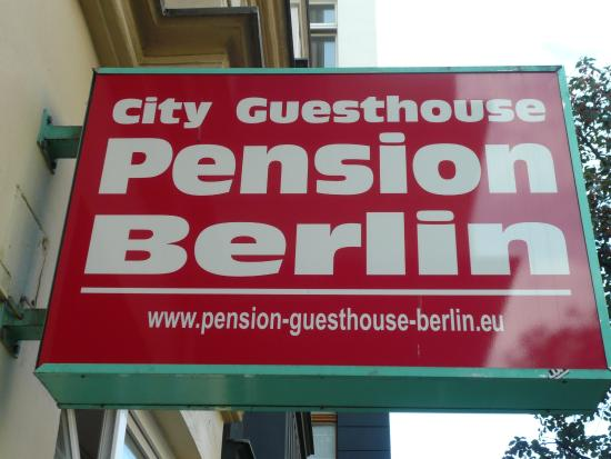 City Guesthouse Pension Berlin: ROTULO