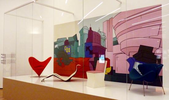 pop art design chairs backgound is valerio adami plein air ny