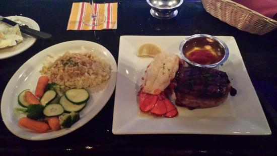Ukiah Garden Cafe : Bacon Wrapped Filet and Lobster Tail