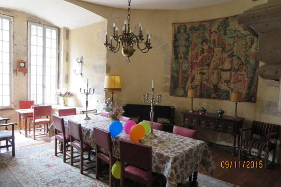 La Flocelliere, Francia: The Keep dining room