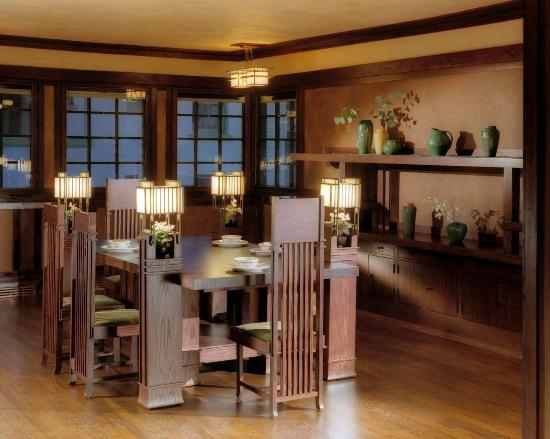 Westcott House Dining Room Picture Of Frank Lloyd Wright