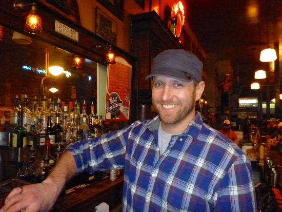 The Central Saloon: Nick manages and bartends