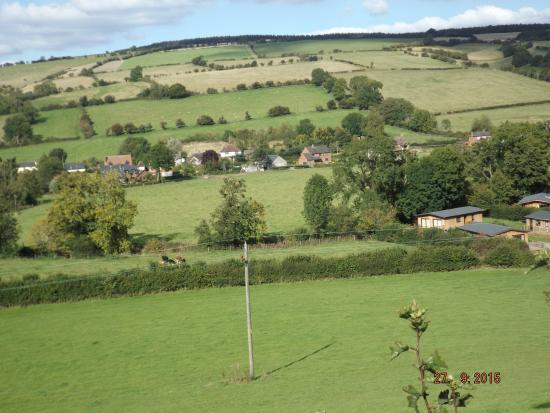 Clun, UK: view from front of lodge