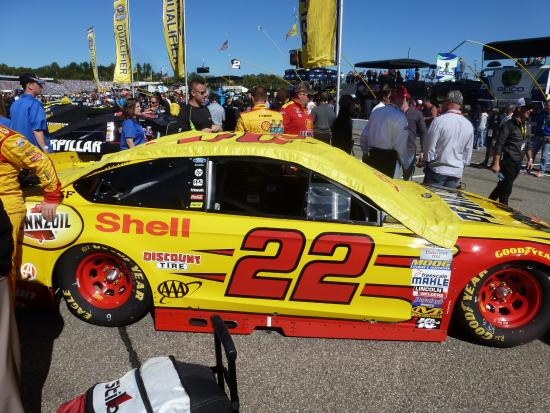 Loudon, NH: Joey Logano's car