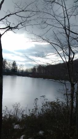 West Chesterfield, NH: View from the pond at the top of the hill