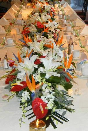 party table we provided the floral centerpieces picture of rh tripadvisor co za