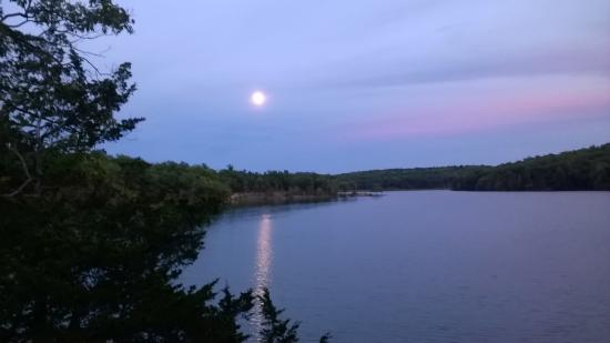 Lake Taghkanic State Park: Moon over Lake Taghkanic