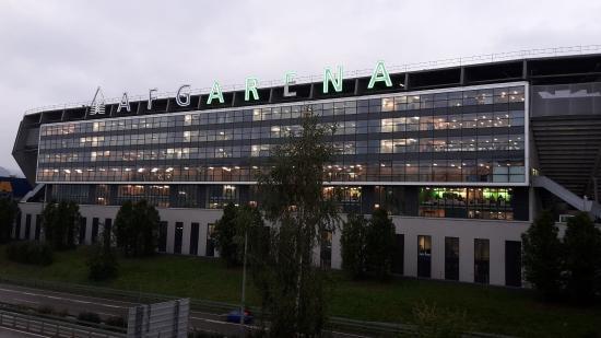 AFG Arena: VIP Bereich von Aussen