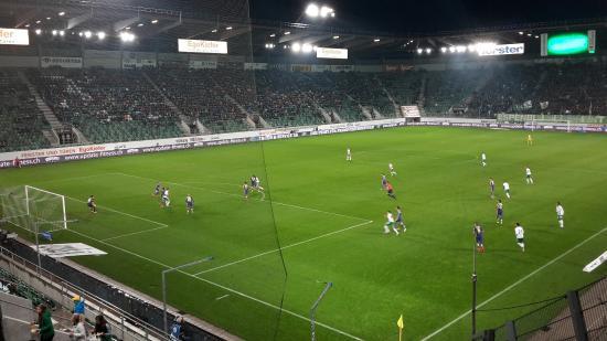 AFG Arena: Sicht aus Block B1