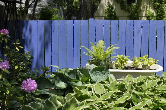 Saugatuck, MI: Lush inviting garden