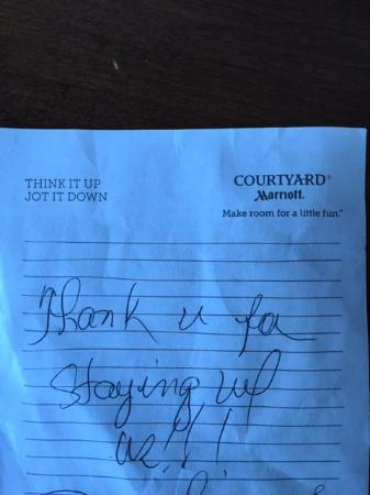 Courtyard Roseville: Note from Housekeeping
