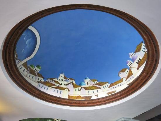 Hosteria Rincon de Puembo : Ceiling painting in the restaurant