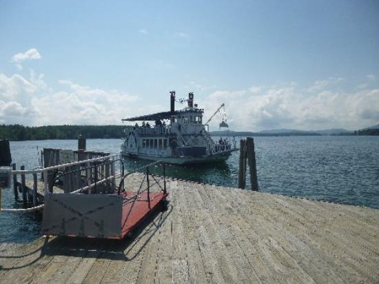 Wolfeboro Dockside Grille : View from the pier at Wolfboro Cafe