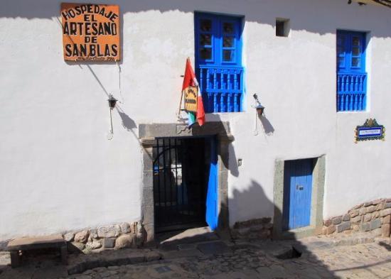 Hospedaje el Artesano de San Blas : Вход в гестхауз