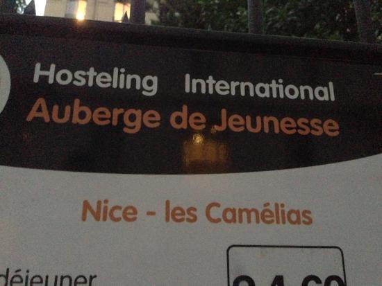 """Auberge de Jeunesse """"Les Camelias"""": Front Sign"""