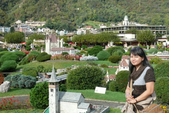Melide, Schweiz: Mini Lanscape kota-kota di Swiss