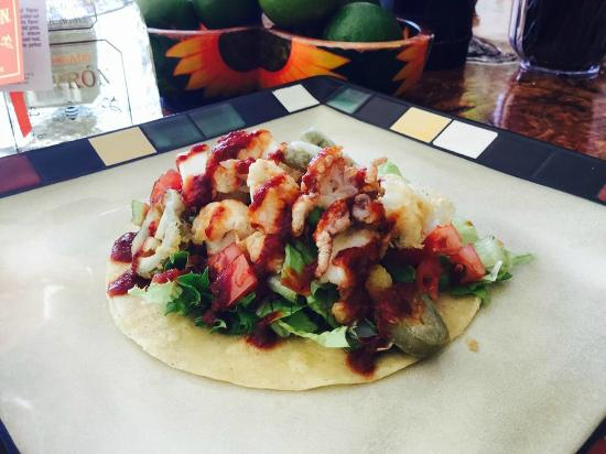 Calamari Tacos With Salsa Naranja Recipe — Dishmaps