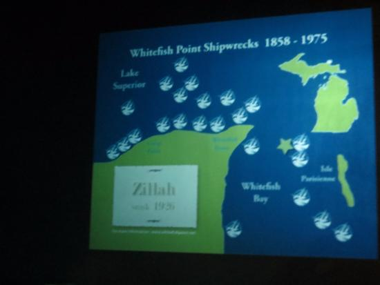 map of wrecks - Picture of Great Lakes Shipwreck Museum ... Map Of The Great Lakes Shipwrecks on map of the arctic, map of the staten island ferry, map of the new jersey, map of the weather, map of the great lakes ports, map of the hurricane, map of the north carolina,