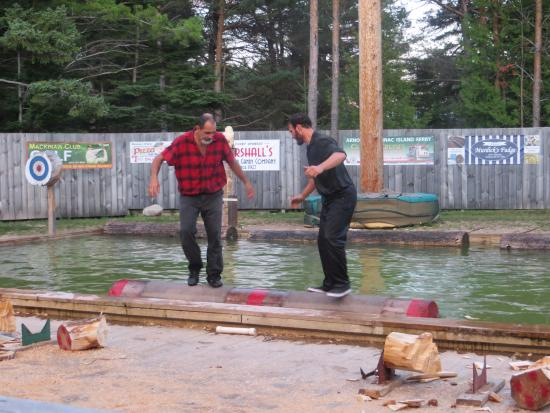 Jack Pine Lumberjack Show: Log roll contest
