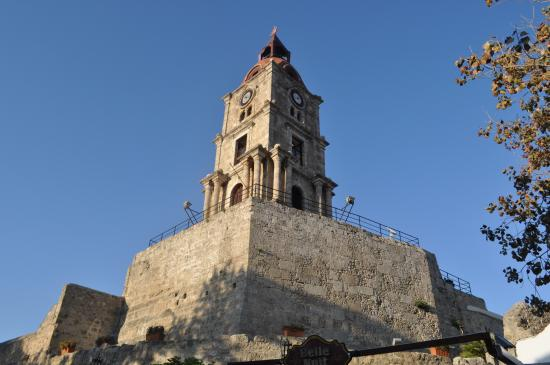 Roloi Clock Tower, Rhodos - Picture of Roloi Clock Tower ...