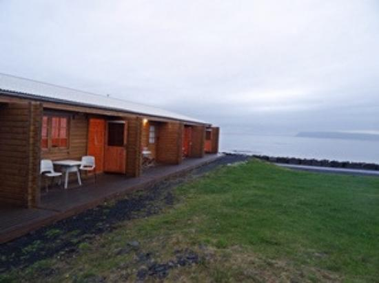 Grimsey Island, Islândia: the row of rooms