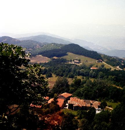 La Verna, Italie: una vista dal Santuario