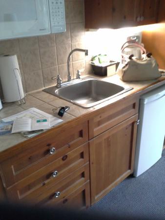 Барри, Канада: small kitchen..toaster, mini fridge, coffee maker,microwave