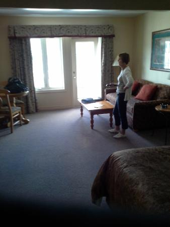 Барри, Канада: large living room with sofa bed