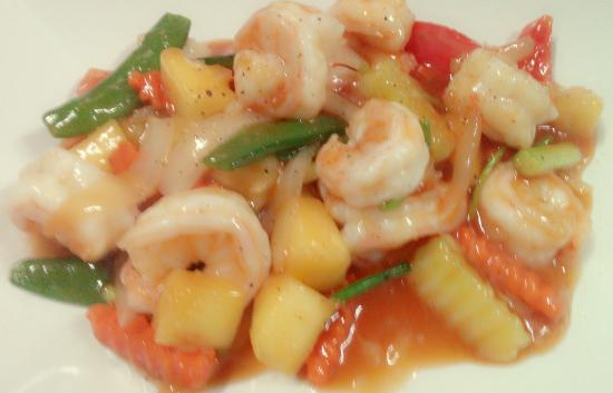 Harry's Pizzeria and Bar: sweet and sour prawns
