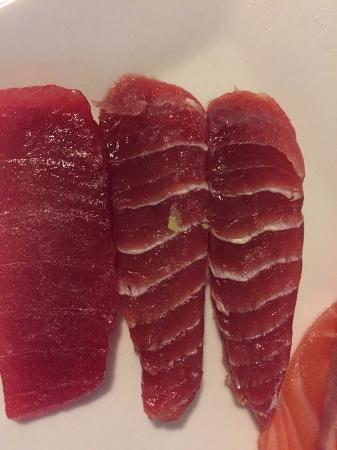 Another bad piece of king fish picture of sushi waka for Is tuna fish good for you