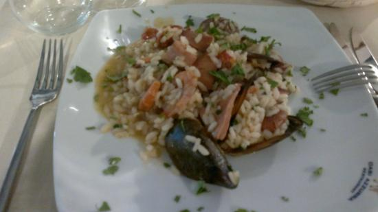 Oasi Azzurra Restaurant: Ризотто с морепродуктами