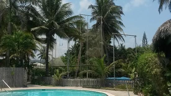 Cabarete, Dominikanska Republiken: View of the rig from halfpipe