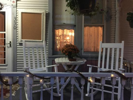 Spillville, IA: Porch rocking chairs